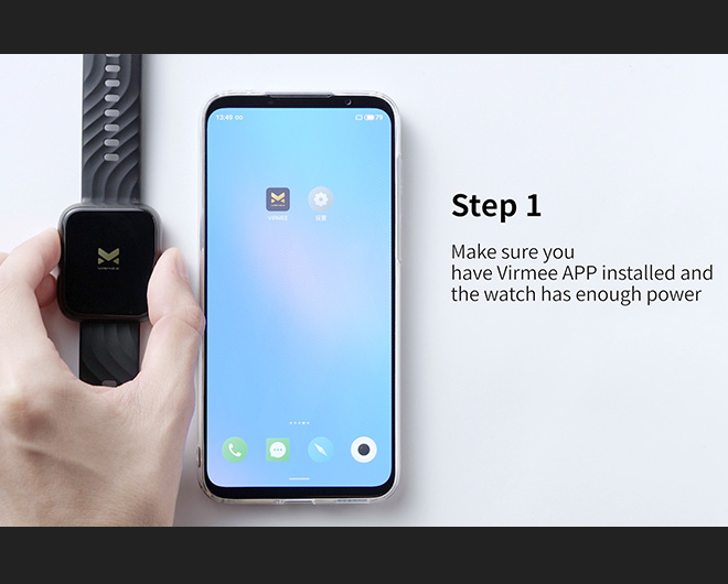 Virmee VT3 PLUS Smart Watch Connection Tutorial Android Version