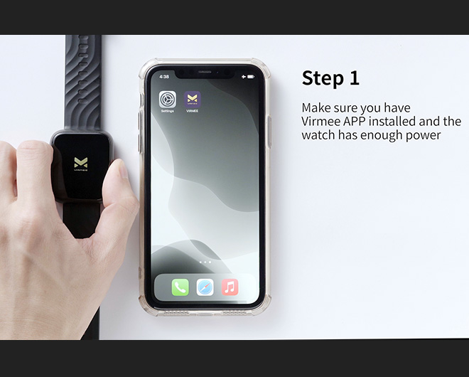 Virmee VT3 PLUS Smart Watch Connection Tutorial IOS Version