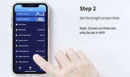 virmee VT3 PLUS Smart Watch How to Adjust Screen Time