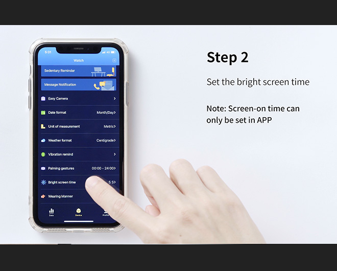 Virmee VT3 PLUS Smart Watch How to Adjust Screen Time?