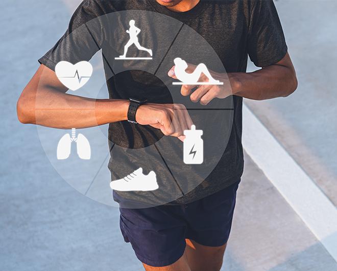 Virmee running sports smart watch